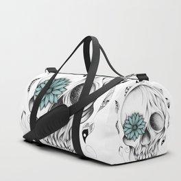 Poetic Wooden Skull Duffle Bag