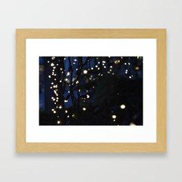 Tree Lights Framed Art Print