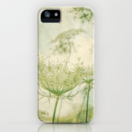Sanctuary -- White Queen Anne's Lace Meadow Wild Flower Botanical iPhone Case