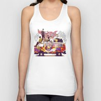 "karu kara Tank Tops featuring "" ON THE ROAD AGAIN "" by Karu Kara"