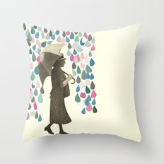 Rain Dance Throw Pillow