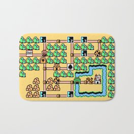 Super Mario Bros 3 World 1 Bath Mat