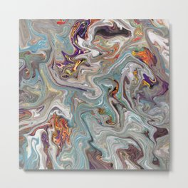 Abstract Oil Painting 9 Metal Print