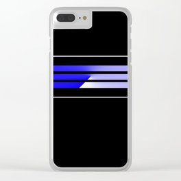 Team Colors 5...Blue Clear iPhone Case