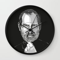 steve jobs Wall Clocks featuring Steve Jobs by 1and9