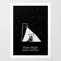 Starry Night by ISHISHA PROJECT Art Print