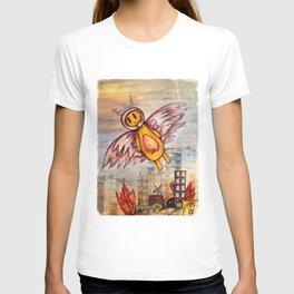 Robot fly away T-shirt