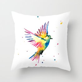 Freedom Feathers Throw Pillow