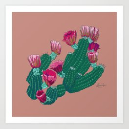 Desert Blooms Art Print