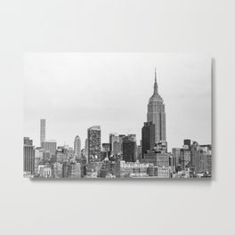 The New York Cityscape City (Black and White) Metal Print