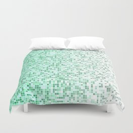 Bathroom pixels Duvet Cover
