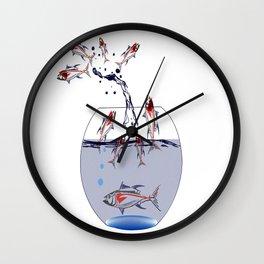 jumping fish Wall Clock