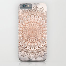ROSE NIGHT MANDALA iPhone Case