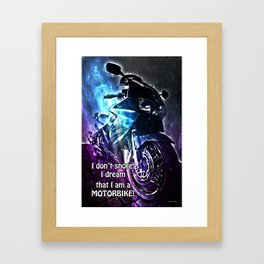 I don't Snore Framed Art Print