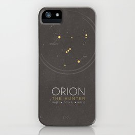 Orion Constellation - The Hunter iPhone Case