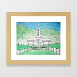 Mt. Timpanogos Temple Framed Art Print
