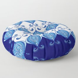 Twisted Blues Floor Pillow