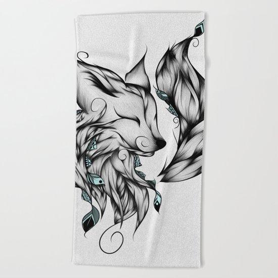 Fox B&W  Beach Towel