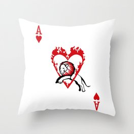 Sawdust Deck: The Ace of Hearts Throw Pillow
