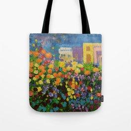 Flower Hedge Tote Bag