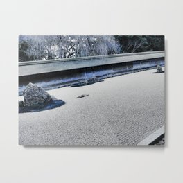 Winter Might Frost (Kyoto) Metal Print