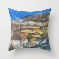 dune Throw Pillows featuring Dune by Ana Rafael