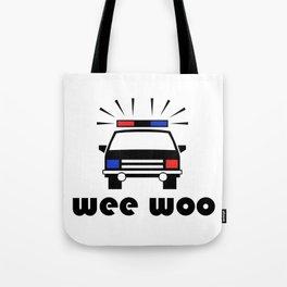 Police Car Wee Woo Tote Bag