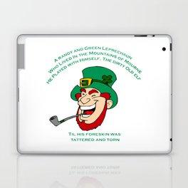 A Randy And Green Leprechaun St Patrick's Day Limerick Laptop & iPad Skin