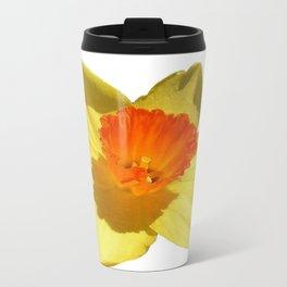 Daffodil Emblem Isolated On White Travel Mug