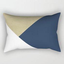 Gold meets Navy Blue & White Geometric #1 #minimal #decor #art #society6 Rectangular Pillow