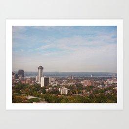 Hamilton Skyline Art Print