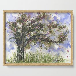 Springtime Fairy Tree watercolor by CheyAnne Sexton Serving Tray