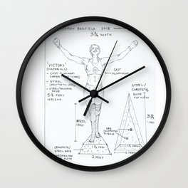 Victory Drawing, Transitions through Triathlon Wall Clock