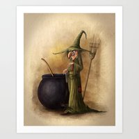 witch Art Prints featuring Witch by Alexander Skachkov