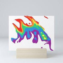 Rainbow Warp 2 Mini Art Print