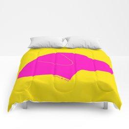 LABRADOR PINK ON YELLOW Comforters