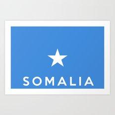 Somalia country flag name text Art Print