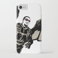 millenium falcon iPhone & iPod Cases featuring Falcon by Irene Flores
