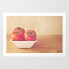 Persimmons Art Print
