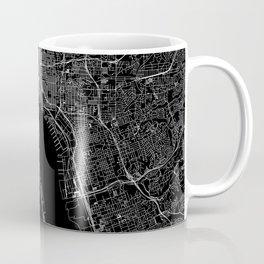 San Diego Black Map Coffee Mug