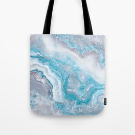 Ocean Foam Mermaid Marble Tote Bag