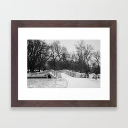Winter Solitude - St. Louis Snowy Bridge Framed Art Print