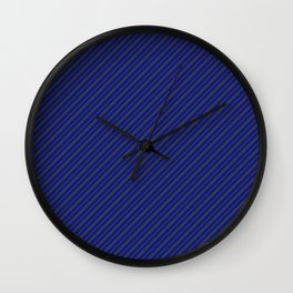 Rowena Blue and Grey Stripes Wall Clock