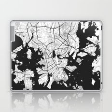 Helsinki Map Gray Laptop & iPad Skin