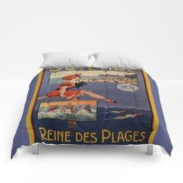 1900 Ostend beach bathing beauty Comforters