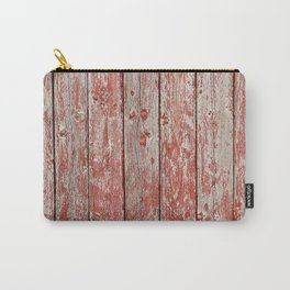 Rustic red wood Carry-All Pouch