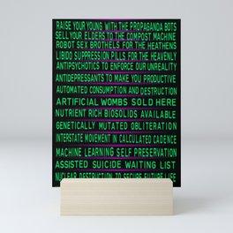 Cyberpunk Slogans (Toxic) Mini Art Print
