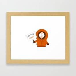 Don't Kill Kenny! Framed Art Print