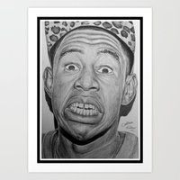 tyler the creator Art Prints featuring Tyler, The Creator Drawing by ColleenTrillow