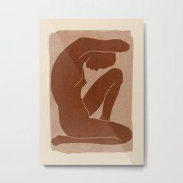 Abstract Nude Art Metal Print